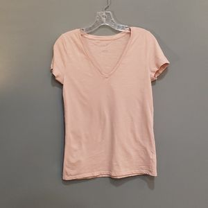 A New Day burnt pink vneck top. Size Medium